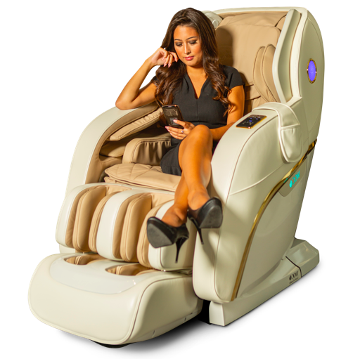 Hvid Beige Apollo Plus Massagestol